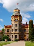 Castle. Old castle with a tower in Sigulda, Latvia Royalty Free Stock Images