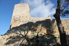 Castle. Urban building enna,sicily, Italian architecture castle Stock Photo