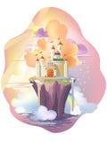 Castle. Fairy tale castle, on the Magic Island Stock Photo