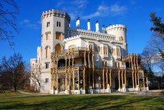 Castle. Hluboka nad Vltavou, Czech Republic Royalty Free Stock Photography
