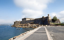 Castle. San Anton is a castle located on the coast of A Coruña. Today is the archaeological and historic museum of the city Royalty Free Stock Photo
