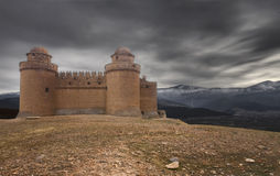 The castle. La Calahorra Castle-Palace is one of the most important Works of the firs Spanish Renaissance Stock Photography