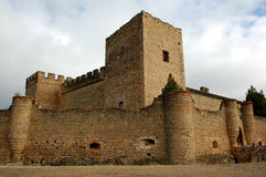Castle. In Pedraza (Spain) with blue sky royalty free stock images