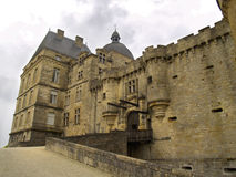 Castle. Grimm looking castle in France Royalty Free Stock Images