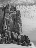 The Castle. Rock sculpted by wind and waves in Cabo San Lucas, Mexico Stock Images