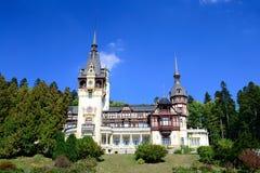 Peles Castle. Front View Of Peles Castle In Sinaia, Romania Stock Photo