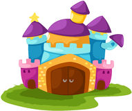 Castle. Illustration of isolated cartoon castle on white background vector illustration