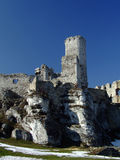 Castle. An old castle tower ruin on ogrodzieniec (Poland Stock Photography