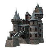 Castle. 3D rendered fantasy castle on white background isolated Stock Image