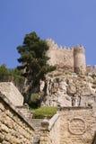 Castle. Cstle in Almansa, Albacete, Spain Stock Image