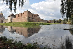Castle. Fagaras Fortress, reflected in the water Stock Photography