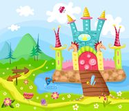 Castle. Vector illustration of a cute castle Royalty Free Stock Images