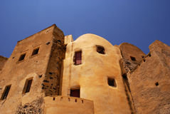 Castle. In village Emporio on Santorini island, Greece stock images