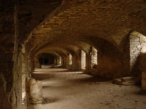 Castle. The catacomb of an old castle Stock Images