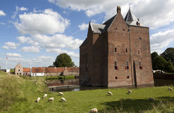 Castle. Loevestein, Poederoijen (Zaltbommel) in the province of Gelderland, Netherlands Royalty Free Stock Photos