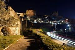Castle. THESSALONIKI, GREECE - DECEMBER, 20: Thessaloniki Castle and lights by night on December 20, 2007, Thessaloniki, Greece Royalty Free Stock Image