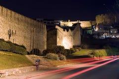 Castle. THESSALONIKI, GREECE - DECEMBER, 20: Thessaloniki Castle and lights by night on December 20, 2007, Thessaloniki, Greece Royalty Free Stock Photography
