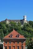 Castle. Old castle on a hill in Ljubljana, Slovenia Stock Images