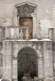 Castle. Ancient door at the Pidhirtsi Castle, Ukraine Royalty Free Stock Photography