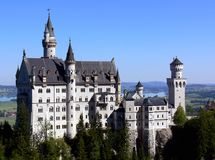 Castle. A castle on the mountain top in Bavaria Royalty Free Stock Photography