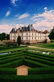Castle. Photo of castle and garden taken in france on suny day stock photos