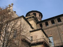Castle. Old castle in Turin (Piazza Castello stock photo