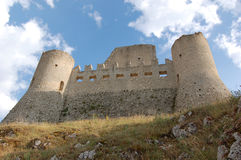 The Castle. An old Castle named Rocca Calascio in this place where located a lot of films Royalty Free Stock Photography