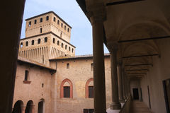 Castle. The Torrechiara's Castle (Italy Stock Photo