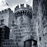 Castle. Palace of the Grand Masters (14th century), old city. Rhodes. Greece stock photography