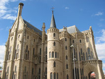 Castle. Palace in Astorga, Spain royalty free stock images