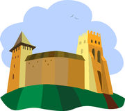 Castle. An ancient castle. Illustration vector Royalty Free Stock Images