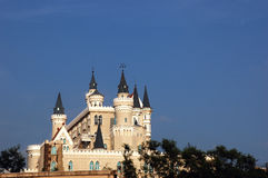 Castle. On blue sky,China Stock Photos