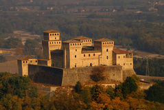 Castle. Torrechiara Castle in province of Parma, northern Italy stock photo