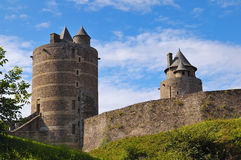 Castle. A castle façade in Britanny, North of France Stock Images