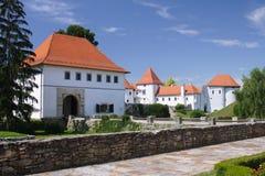 Castle. White castle with blue sky in Varazdin, Croatia Royalty Free Stock Photos