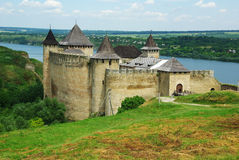 Castle. Khotyn castle near Dnister river, Ukraine Stock Photography