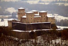 Castle. Torrechiara Castle in province of Parma, northern Italy stock images