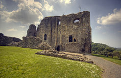 Castle. Ruins of dundonald castle in scotland Stock Photo