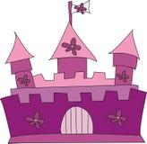 Castle. A Pink & Purple Illustration of a big Castle Stock Images