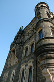 Castle. Crop of imposing German Castle Wall stock photos