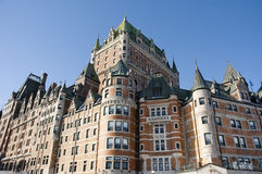Castle. Chateau Frontenac castle in Quebec City Canada Stock Photos