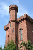 Castle. A red, brick castle Royalty Free Stock Image