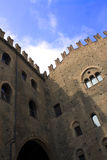 Castle. With crenellated walls and sky blue Royalty Free Stock Images