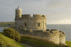 Castle. Of St Mawes at sunset, Cornwall, United kingdom Stock Photography