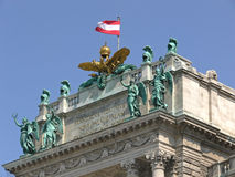 Castle. Top of the vienna hofburg stock photos
