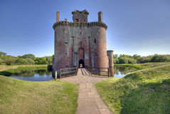 Castle. Caerlaverock castle, ruin taken in dumfries scotland Royalty Free Stock Images