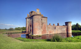 Castle. Caerlaverock castle, ruin taken in dumfries scotland Stock Image