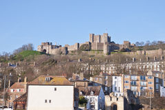 Castle above the city of Dover, Kent, UK Stock Photo