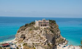Castle above sea in Tropea royalty free stock photos