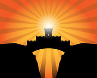 Castle abstract background. Color illustration royalty free illustration